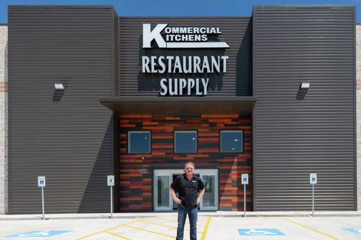 Terry Woodard stands outside the new location of his Kommercial Kitchens Restaurant Supply at 2520 Interstate 10 East in Beaumont. Photo made on April 15, 2020. Fran Ruchalski/The Enterprise