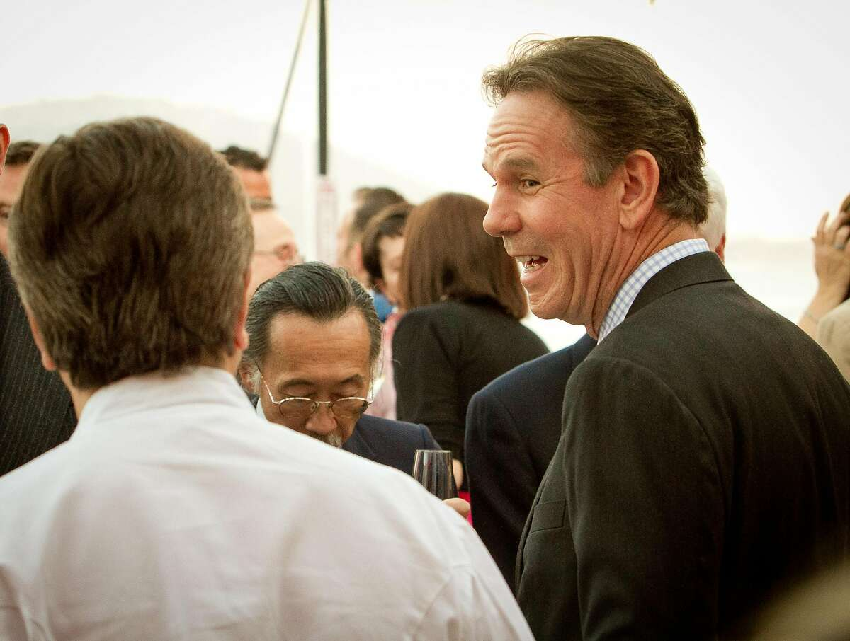 Chef Thomas Keller gives a smile to Chef Daniel Boulud before the
