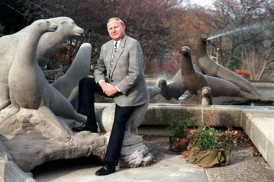 Bob Hermann in a 1999 photo in at Forest Park in St. Louis. Hermann, the soccer executive who launched the Hermann Trophy given annually to the top college soccer players in the United States, has died at age 97. His family said he died Monday at his home in Ladue. Photo: AP File Photo