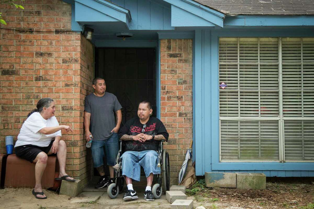 Pedro Muñiz sits outside his family's home on Friday, April 17, 2020 in Conroe after being released from federal prison. Muñiz, 47, who has diabetes, renal disease and hypertension, is one of three federal prisoners from the Houston region who earned compassionate releases since the pandemic. Muniz had two years left on a drug conspiracy sentence when a Houston federal judge granted his release on March 30 from a North Carolina facility where four inmates later died of COVID-19.
