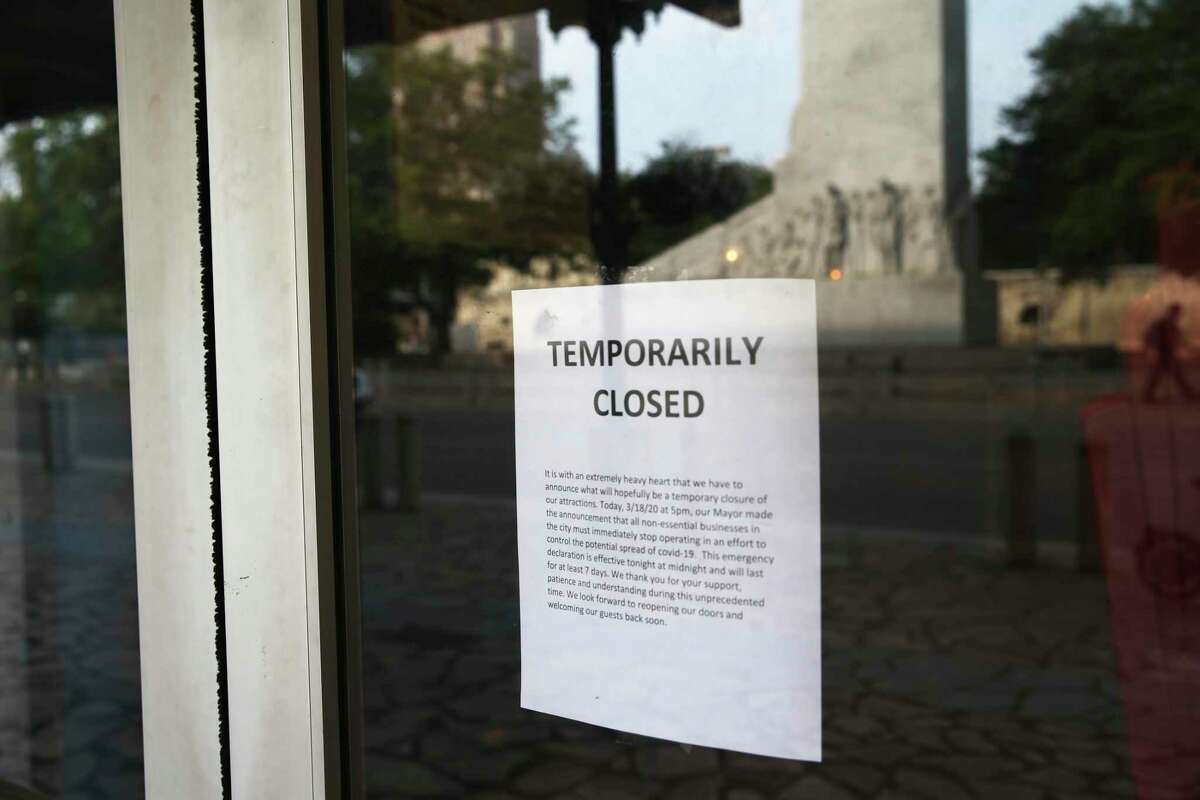 Businesses by Alamo Plaza had to close in mid-March under stay-at-home restrictions. More than 100,000 workers have filed unemployment claims in the San Antonio metro area since mid-March.