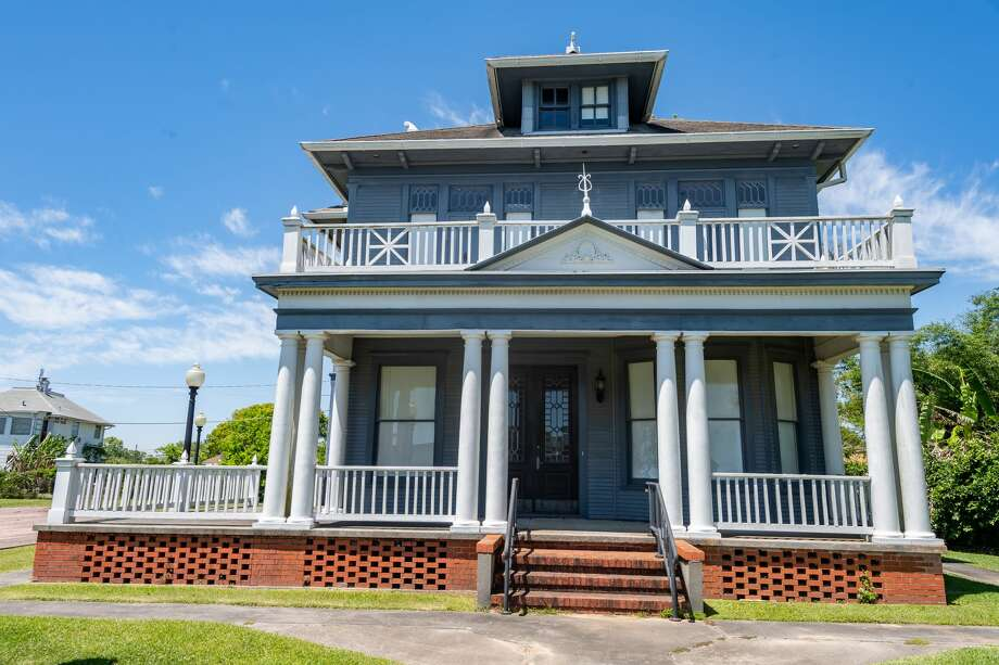 VUYLSTEKKE HOUSE Born in Rotterdam, Holland, Adrianus Jacobus Maria Vuylstekke (1873-1912) immigrated to the U. S. in 1893. In 1894-96 he moved to Texas and helped plat the town of Port Arthur. Following his marriage to Nettie Minerva White in 1898, they settled in Port Arthur. Vuylstekke was an agent for various shipping lines and assistant secretary of the American Land and Oil Company. In 1903 he was appointed Dutch Vice-Consul in Port Arthur, and Dutch Consul in 1906, both by royal decree of the Netherlands. Built for the Vuylstekke family in 1905, this house was constructed by J. E. Alexander in about 75 days. Reflecting the Dutch heritage of its original owner, the colonial revival style house features a full width balustraded porch with classical columns, a pedimented entry bay, centered dormers, and pilasters that articulate the corners of the building. The Vuylstekkes sold the house in 1908 to John W. Tryon, mayor of Port Arthur from 1917 to 1921. Subsequent owners Howard and Olive Fuss moved the home in 1939 to this location. Later remodeled into apartments, it gradually deteriorated and was vacant. The home was purchased by the Port Arthur College Foundation in 1980 and restored by 1986. Where: 1831 Lakeshore Drive, Port Arthur Photo: Fran Ruchalski/The Enterprise / ? 2020 The Beaumont Enterprise
