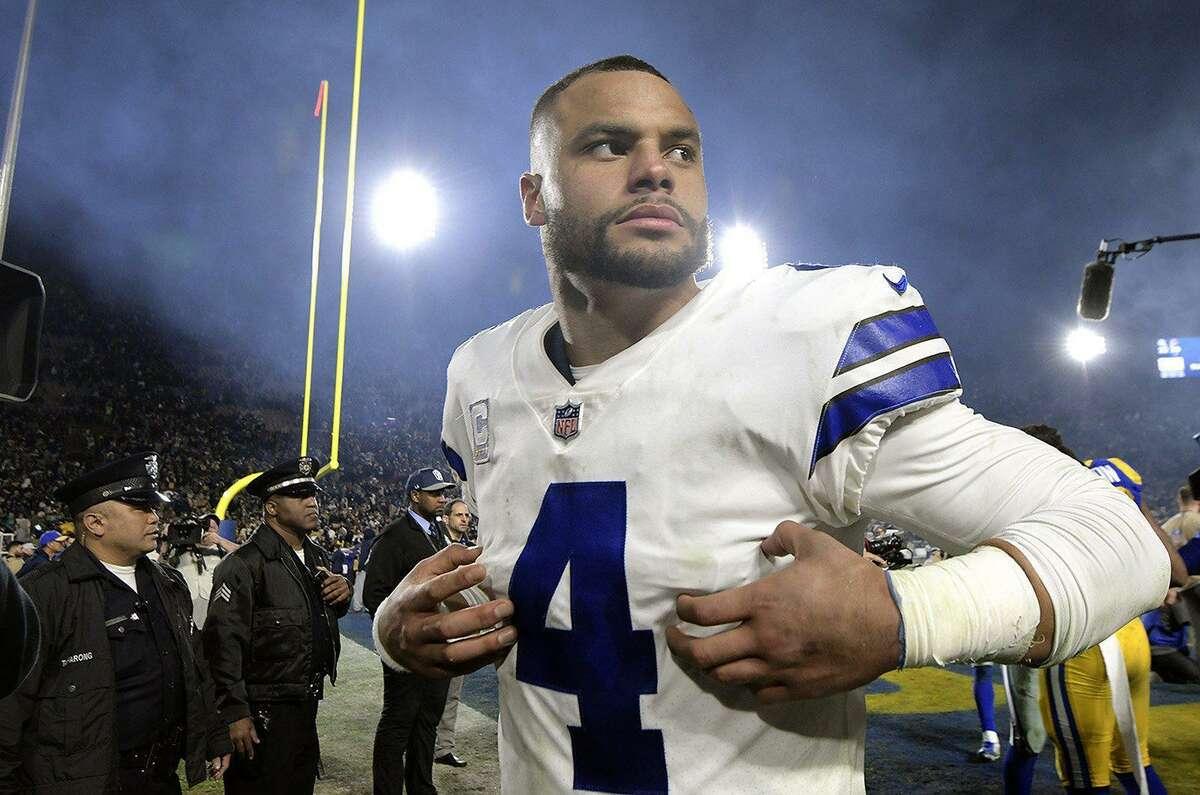 PHOTOS: The highest-paid quarterbacks in the NFL Dallas Cowboys quarterback Dak Prescott will play under the franchise tag worth $31.4 million in 2020.