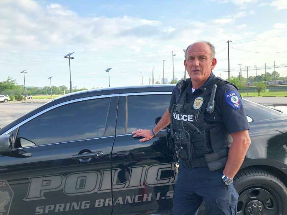 Spring Branch ISD Police Officer Bern Collum has been patrolling the district's campuses for more than 15 years. Photo: Courtesy Of Spring Branch ISD