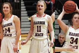 From left, Harbor Beach seniors Claire Woodke, Jenna Guza and Annika Kirsch recently spoke about the team's academic all-state honor, the past season and their futures.