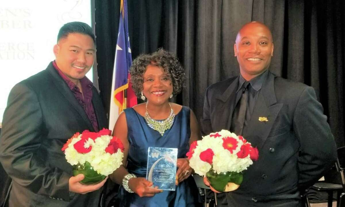 Live Oak Mayor Mary Dennis is flanked by City Councilman Anthony Brooks, right, and Economic Development Corporation board member Phillip Tsai-Brooks. Brooks and Tsai-Brooks died this week from COVID-19-related complications.