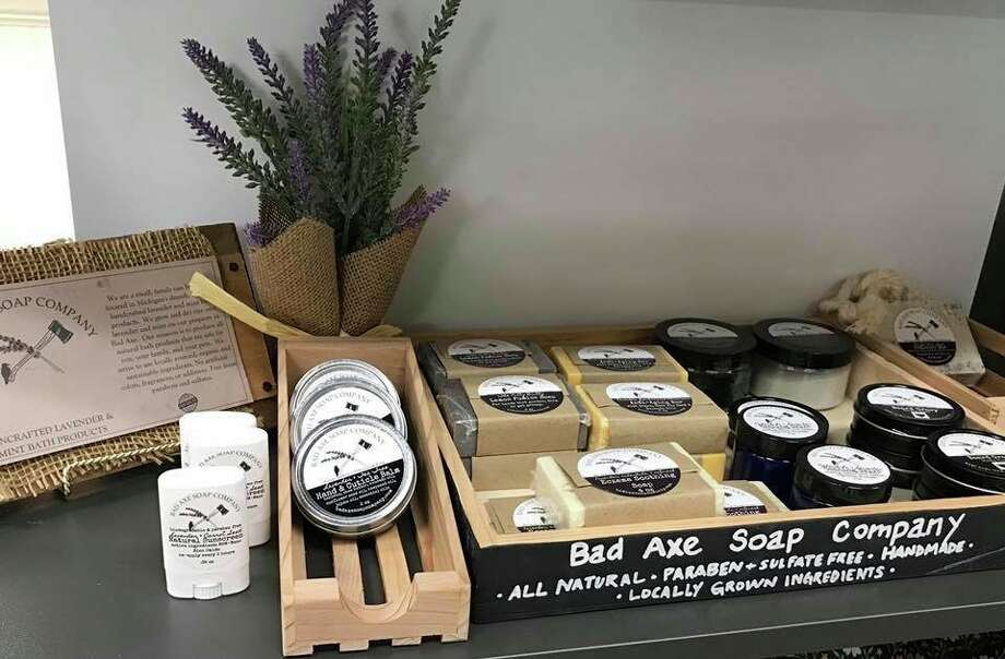 Local mother Kelli Hass works hard to offer all-natural alternatives through Bad Axe Soap Company. (Courtesy Photo)