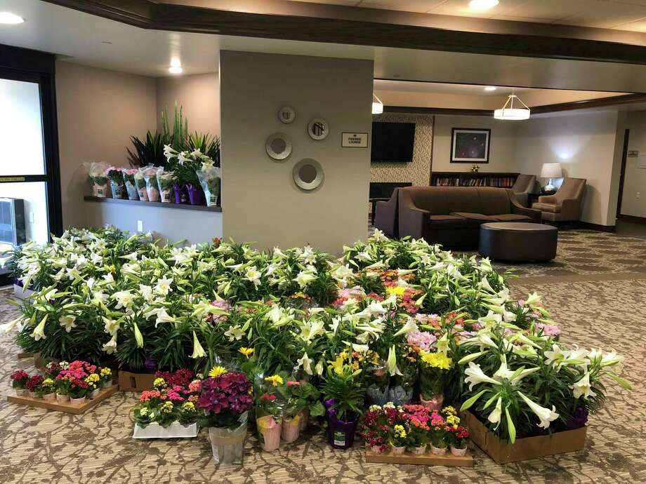 An anonymous individual donated a large shipment of flowering plants to Primrose Retirement Community on Friday, April 10. (Photo provided)