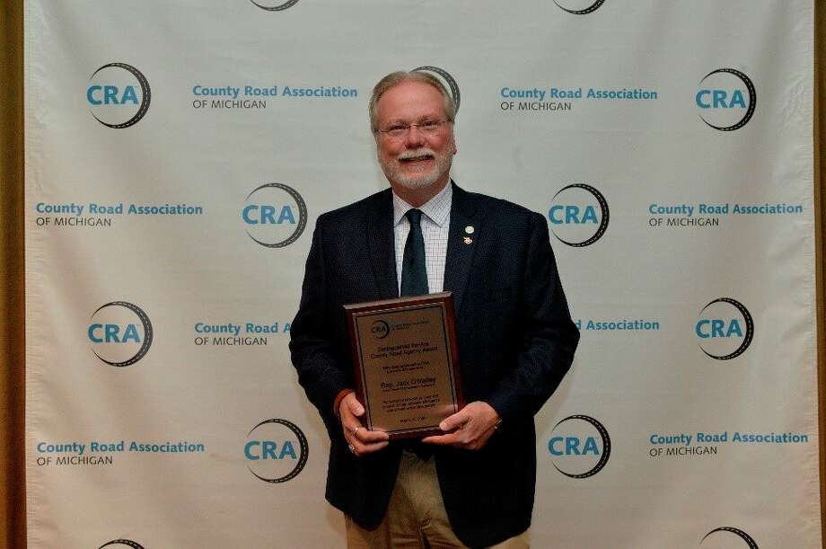 Rep. Jack O'Malley, R-Lake Ann, recently received a Distinguished Service Award at the County Road Association 2020 Highway Conference. (Courtesy photo)