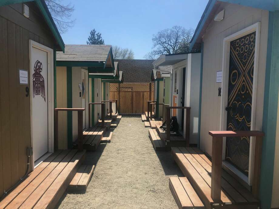 The T.C. Spirit Village, at 22nd and Cherry Street, will shelter dozens of people experiencing homelessness, giving them access to their own space and hygiene facilitiesas the coronavirus outbreak continues to leave much of the city shut down. Photo: By Becca Savransky