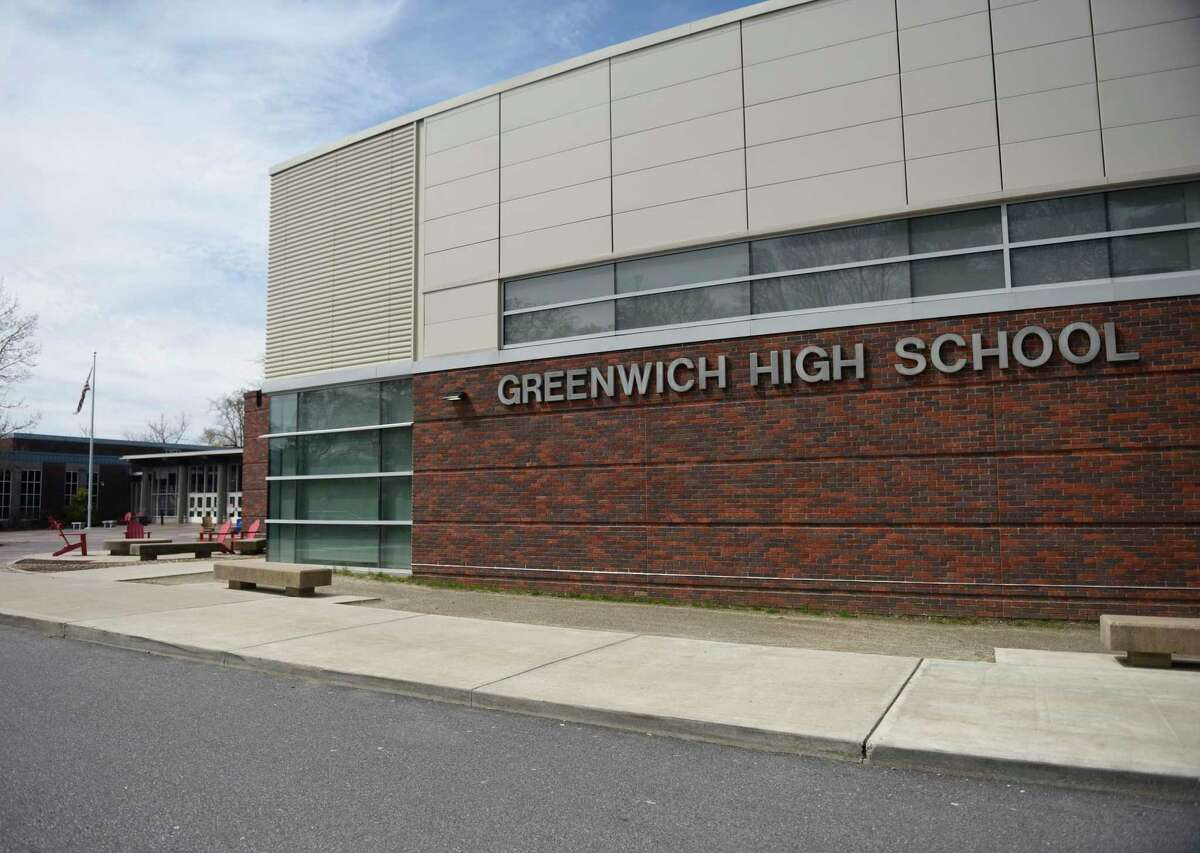 Greenwich High School in Greenwich, Conn., photographed on Tuesday, April 14, 2020.
