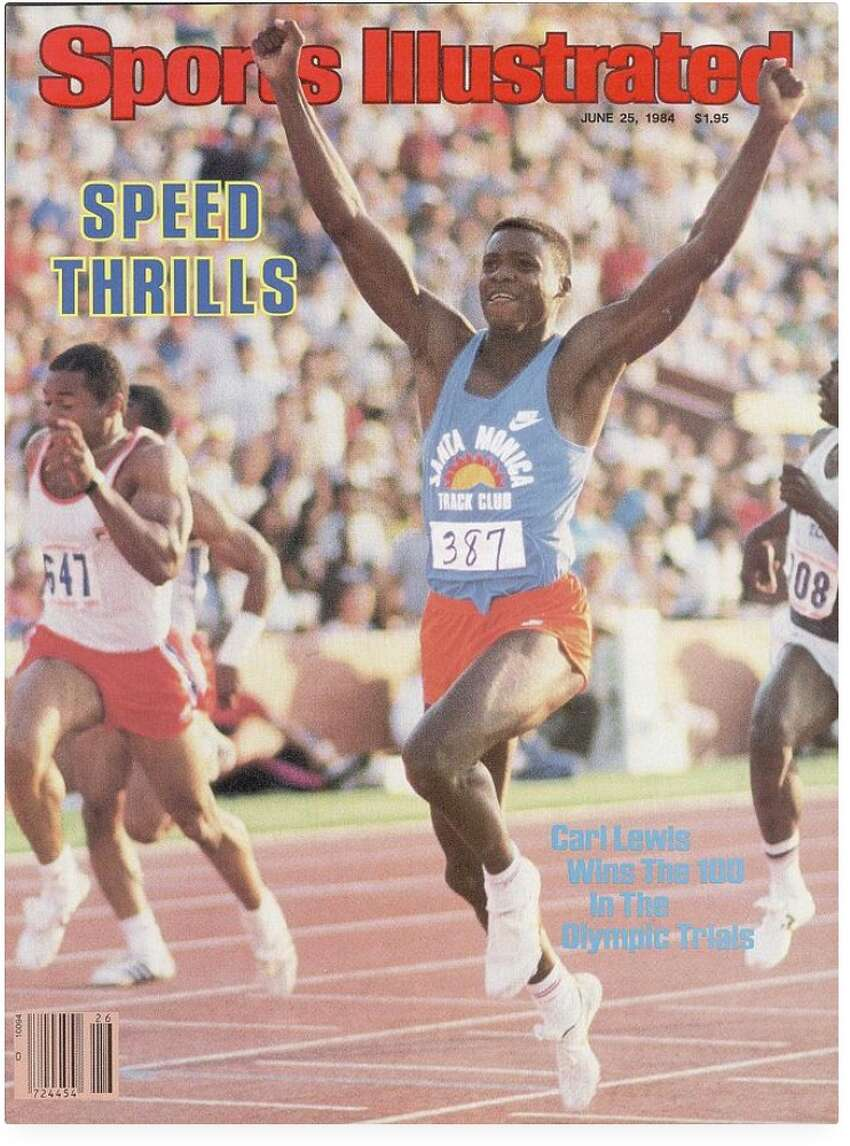 June 25, 1984: Carl Lewis is featured on the SI cover after winning the 100 at the U.S. Olympic Trials,