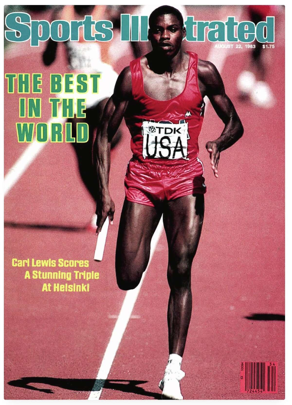 August 22, 1983: Carl Lewis makes his debut on the SI cover after winning gold in the 100 meters, long jump and 4X100 relay at the World Championships in Helsinki in 1983.