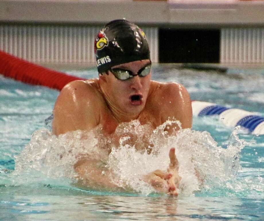 Thomas Lewis turned in four successful season as a member of the Greenwich High School boys swimming team. Photo: Trudy Clark /contributed Photo
