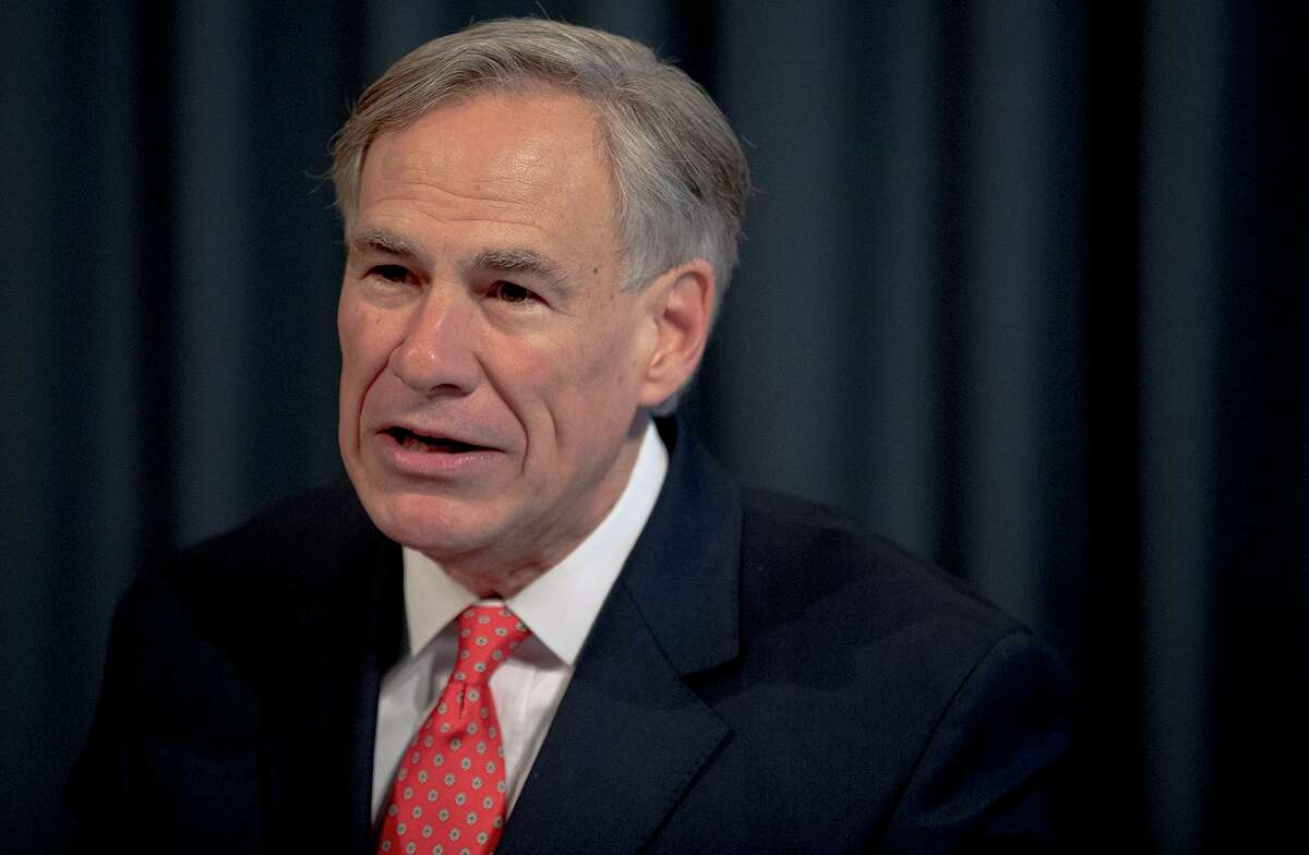 Texas Gov. Greg Abbott speaks about the state's response to COVID-19 during a news conference on Monday, April 13, 2020, in Austin, Texas. (Nick Wagner/Austin American-Statesman via AP)