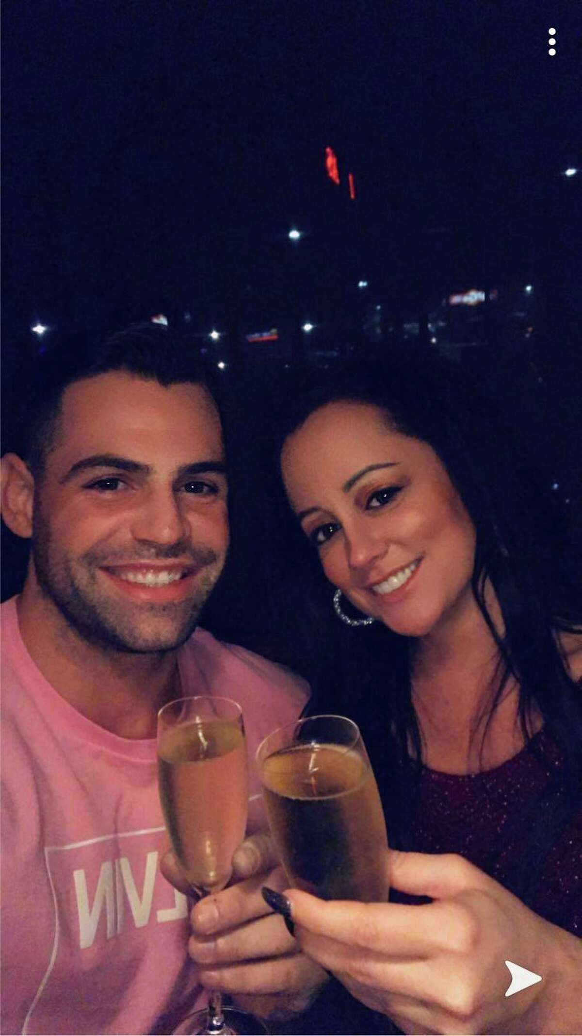 Torrington Athletic Hall of Fame selection Jacob Eanniello and significant other Tiffany Hendricks might represent a light at the end of the coronavirus tunnel for all of us.