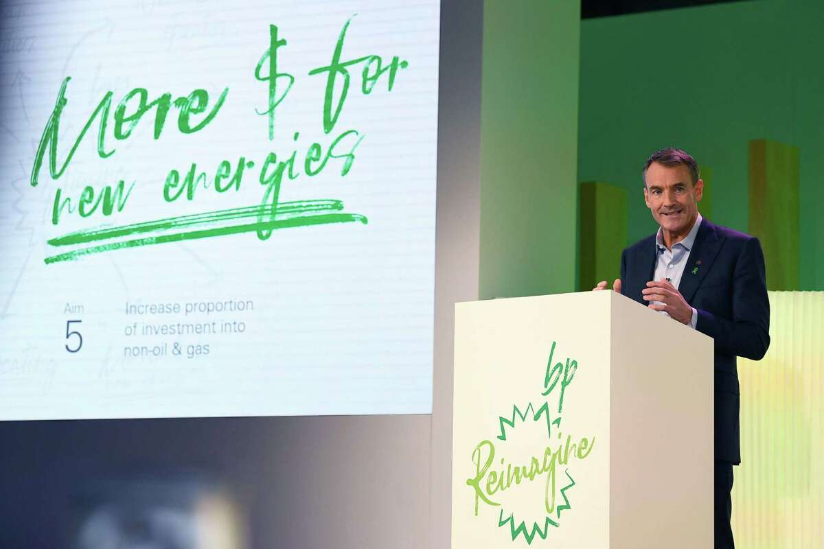BP CEO Bernard Looney in February announces plans to become a net-zero carbon emissions company by 2050.