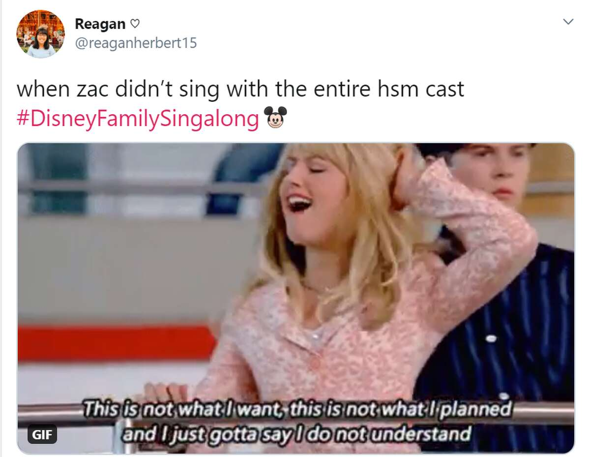 Zac Efron was missing from the High School Musical reunion during The Disney Family Singalong... and the crowd noticed.