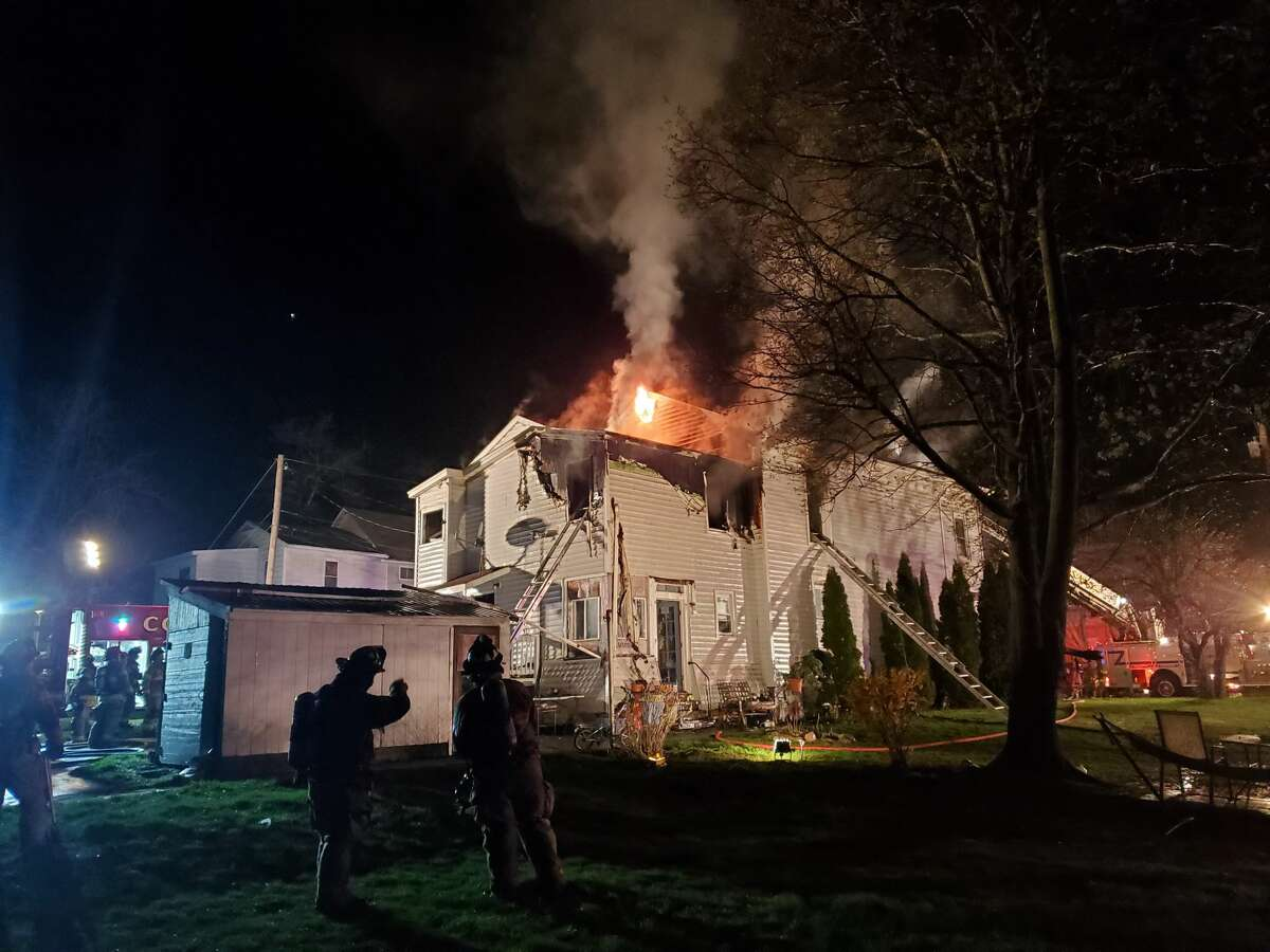 A 12-year-old escaped a fire on Main Street in Ravena Saturday night April 18, 2020 by jumping out a two-story window. A cause of the fire has yet to be determined.