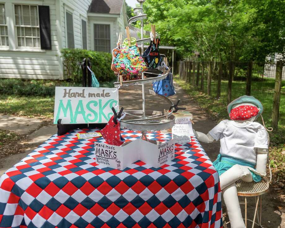 If you're looking for locally-made masks to deal with the coronavirus pandemic, you can stop by this driveway display of homemade masks in the 900 blk. of East Dr. in Beaumont. Photographed on April 18, 2020.  Fran Ruchalski/The Enterprise Photo: Fran Ruchalski, The Enterprise / The Enterprise / © 2020 The Beaumont Enterprise