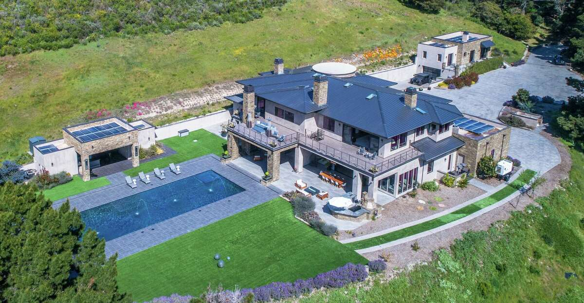 10 Alta Madera Ave. in Carmel is a six-acre estate with a pool, two-bedroom guest house, pool house and contemporary main residence listed at $10.9 million.