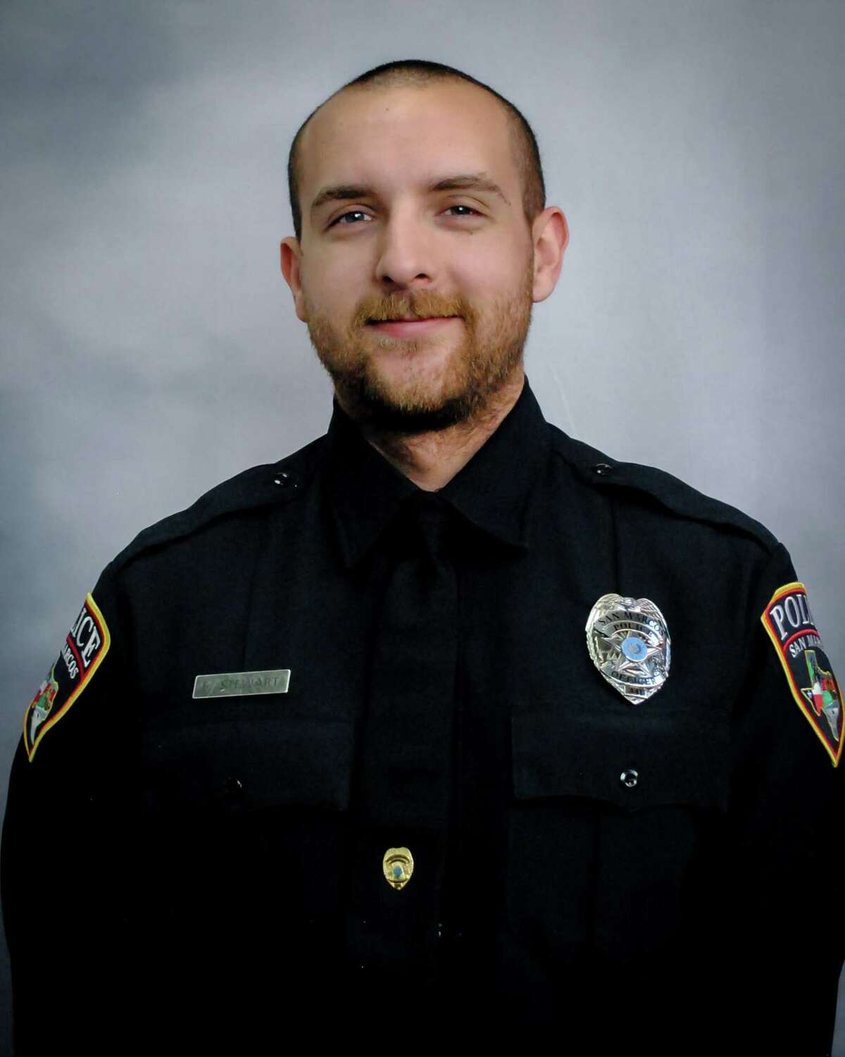 San Marcos police Officer Franco Stewart was critically injured in a shooting Saturday night. Franco, 27, remains in critical but stable condition, officials said Sunday.