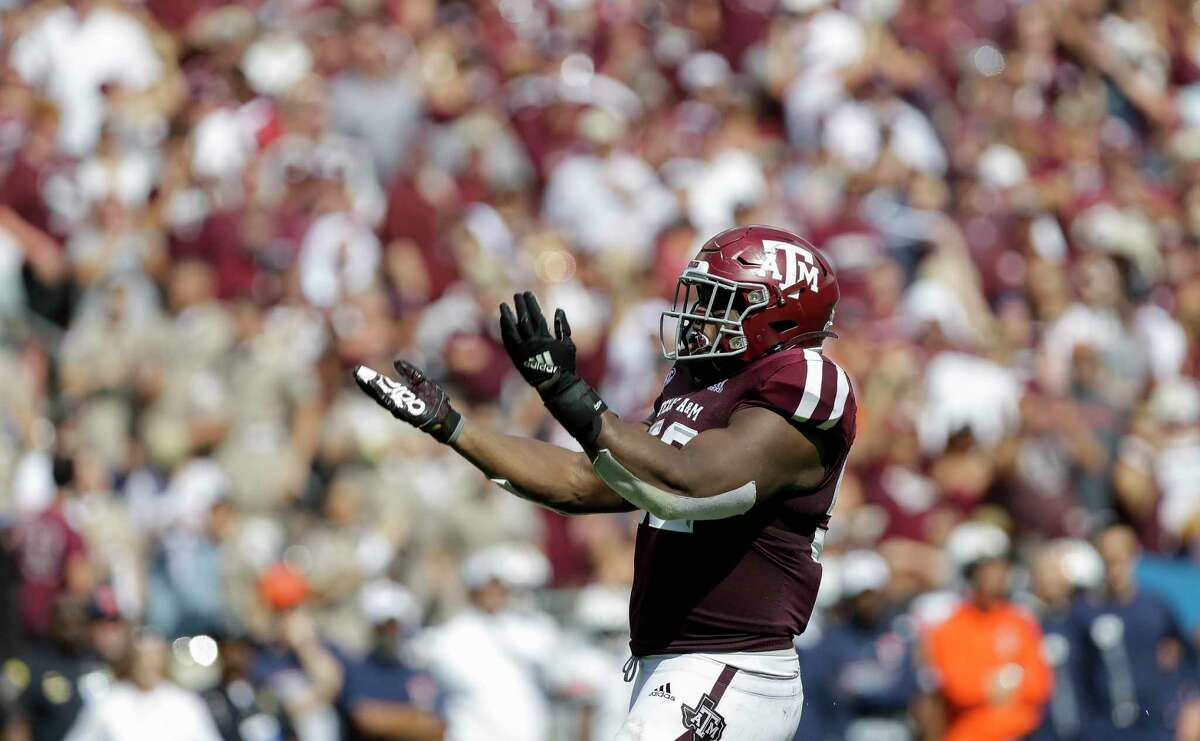 Justin Madubuike, who made 11 sacks in two years as a defensive tackle, would be the Aggies' first first-round pick since 2017.