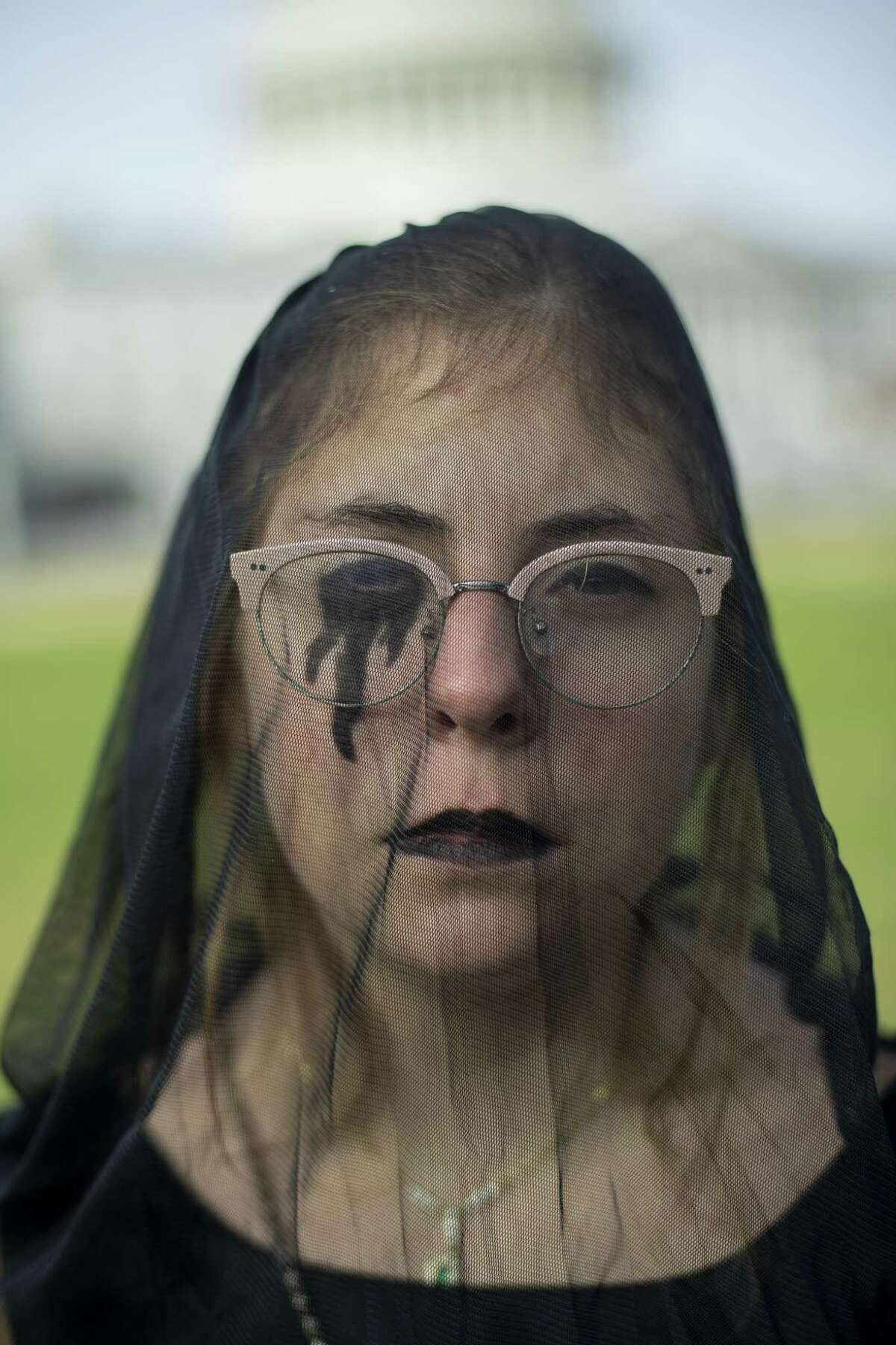 Maddie Graham of the D.C. Chapter of Fridays for Future stands for a portrait before the Black Friday Funeral for Future at the U.S. Capitol to demand climate action on Nov. 29, 2019. (