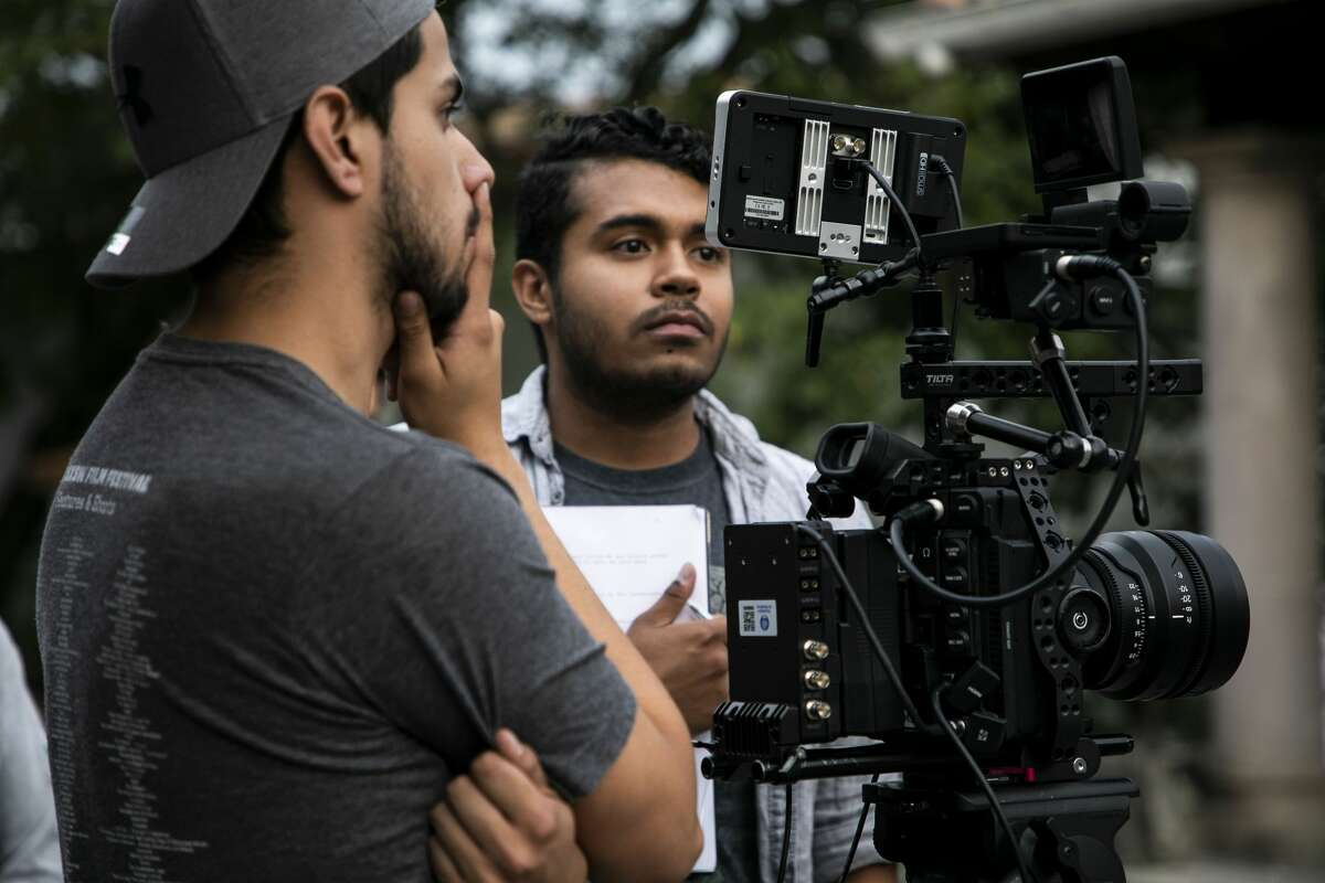 A team of journalists studying at ITESM in Mexico capture footage.
