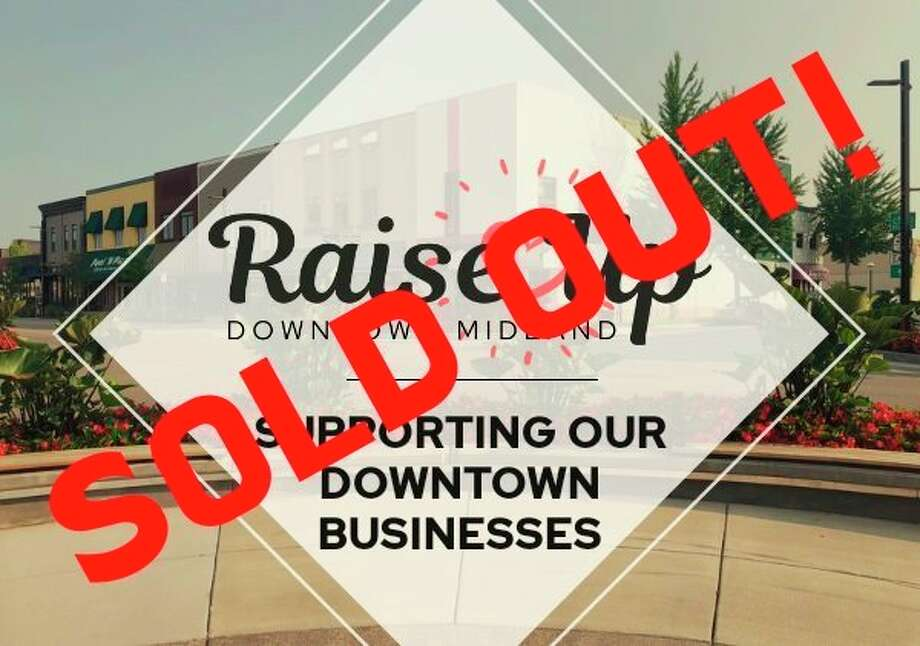 """In just 48 hours, the """"Raise Up Downtown"""" gift card stimulus program raised $87,500 in monetary support for downtown Midland businesses impacted by the COVID-19 pandemic. (Facebook photo)"""