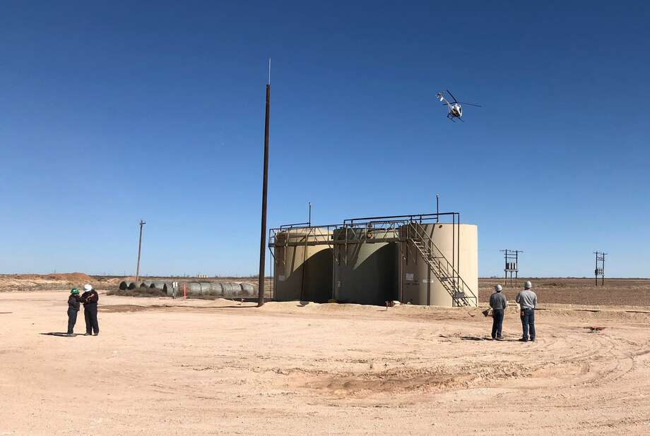 ExxonMobil is conducting field trials of eight emerging methane detection technologies, including satellite and aerial surveillance monitoring, at nearly 1,000 sites in Texas and New Mexico to further reduce methane emissions. Photo: Courtesy Photo
