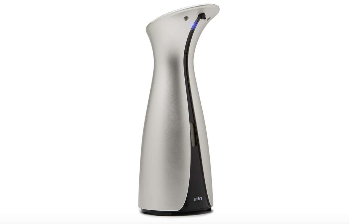 Umbra Otto Automatic Soap Dispenser Touchless, $29.17ThisUmbra Otto Automatic Soap Dispenser Touchless stands out with its sleek, modern design, though you should keep in mind this model is best used for hand sanitizer and liquid soap (either hand or dish), not foaming soap. This will look elegant in your kitchen or bathroom, but luckily looks more expensive than it is.