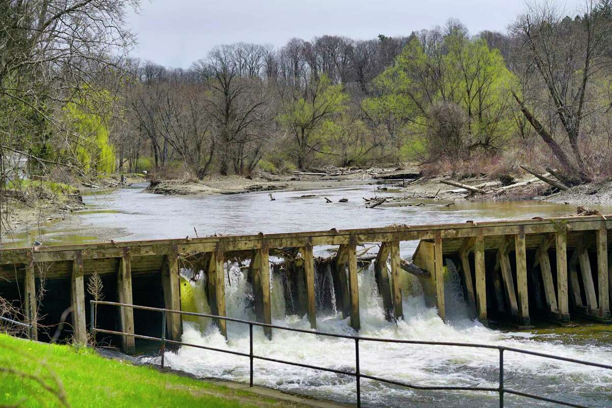 A view of the Mt Ida Dam and Ida Lake on Monday, April 20, 2020, in Troy, N.Y. (Paul Buckowski/Times Union)