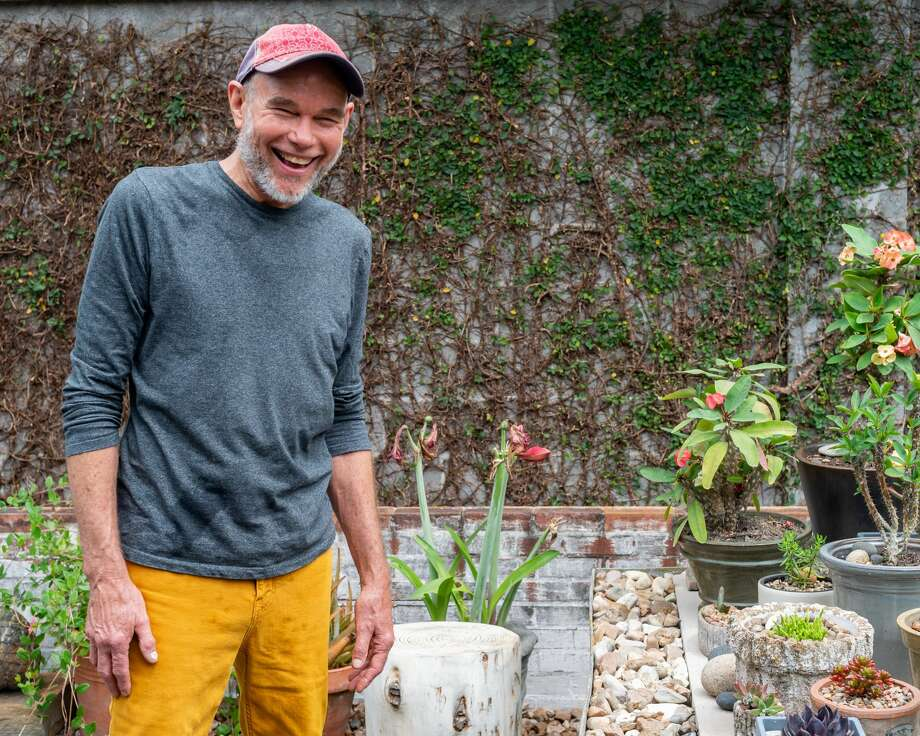 Jaime Kessler is a gardener extraordinaire who has created an artistic succulent garden in his backyard in Beaumont. Photographed on April 18, 2020. Fran Ruchalski/The Enterprise Photo: Fran Ruchalski/The Enterprise / ? 2020 The Beaumont Enterprise