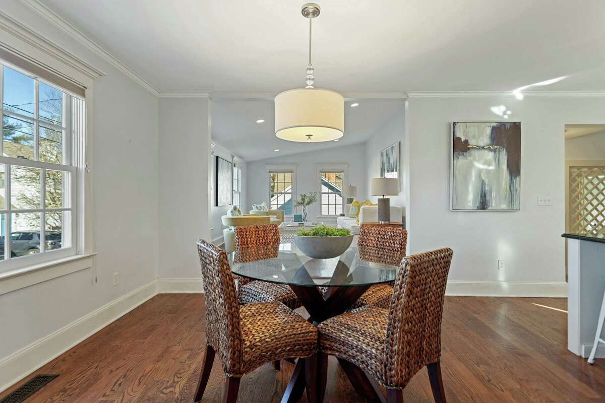 The breakfast room is open to the kitchen and family room.
