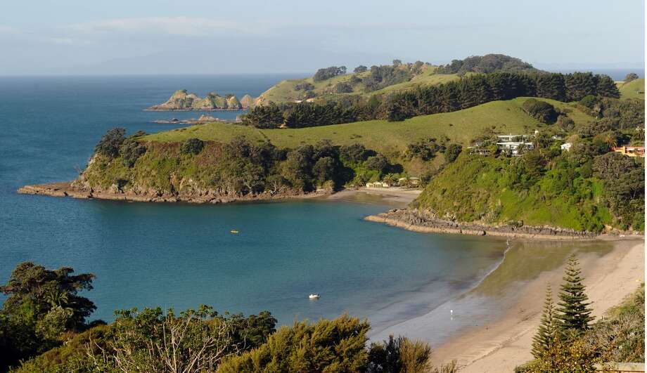 A general view of Little Palm Beach on Waiheke Island in New Zealand is seen in this photograph taken on October 20, 2011. Photo: PAUL ELLIS/AFP Via Getty Images