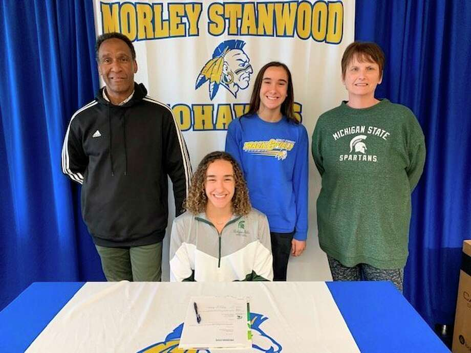 Morley Stanwood seniorhas signedon as a member of the Spartan rowing team, and will be heading to East Lansing in the fall. (Courtesy photo/Cheryl Berry)