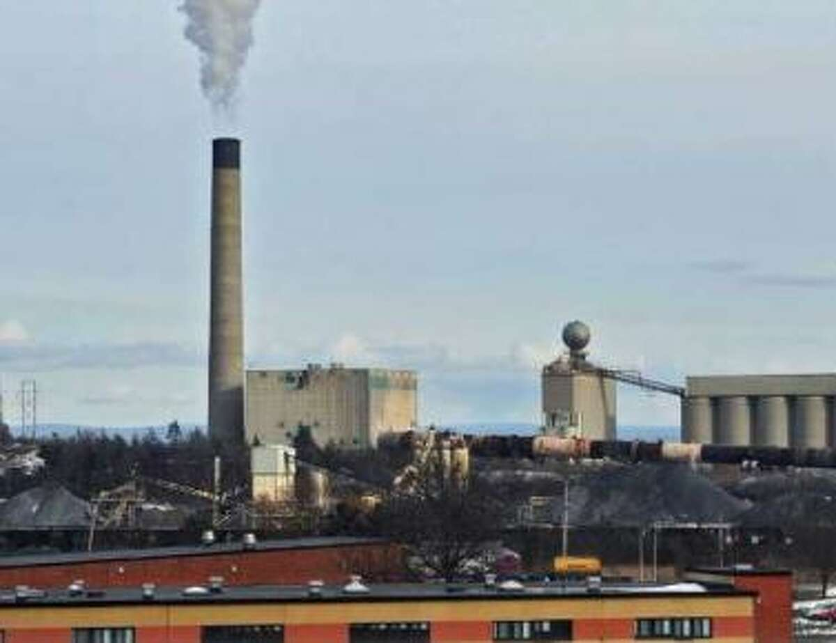 View of the Lafarge Cement Plant in Ravena, NY on Thursday January 6, 2011. After Sunday, Nov. 4, 2017, the well-known smoke stack was demolished as part of an upgrade.