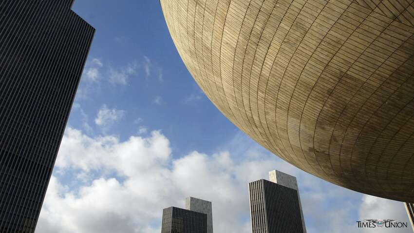 View of the Egg on the Empire State Plaza in Albany.Right-Click to Download
