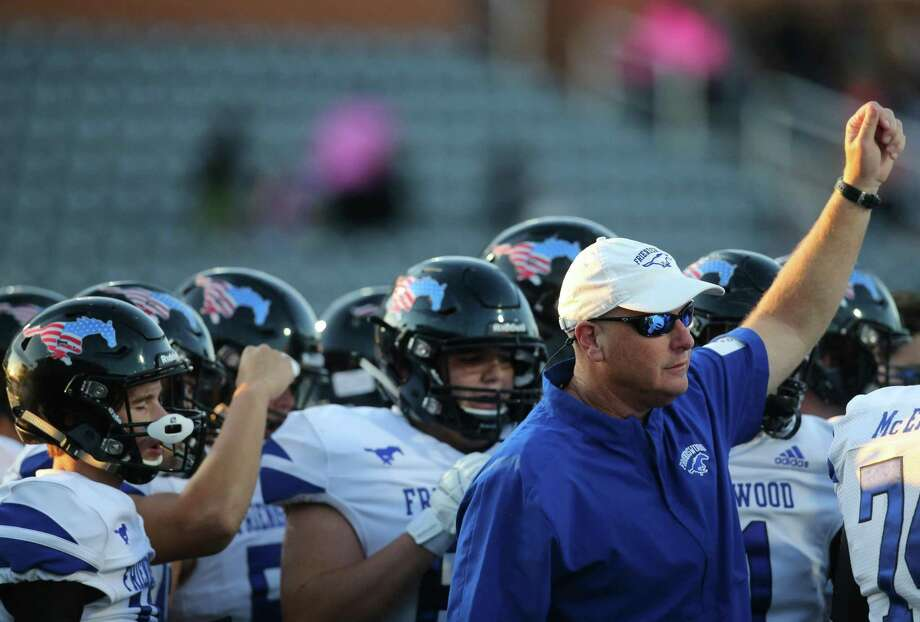 Friendswood head football coach Robert Koopmann is eager to assess his team after it puts on full pads on Sept. 11. Photo: Thomas B. Shea, Contract Photographer / For The Chronicle / © 2019 Thomas B. Shea