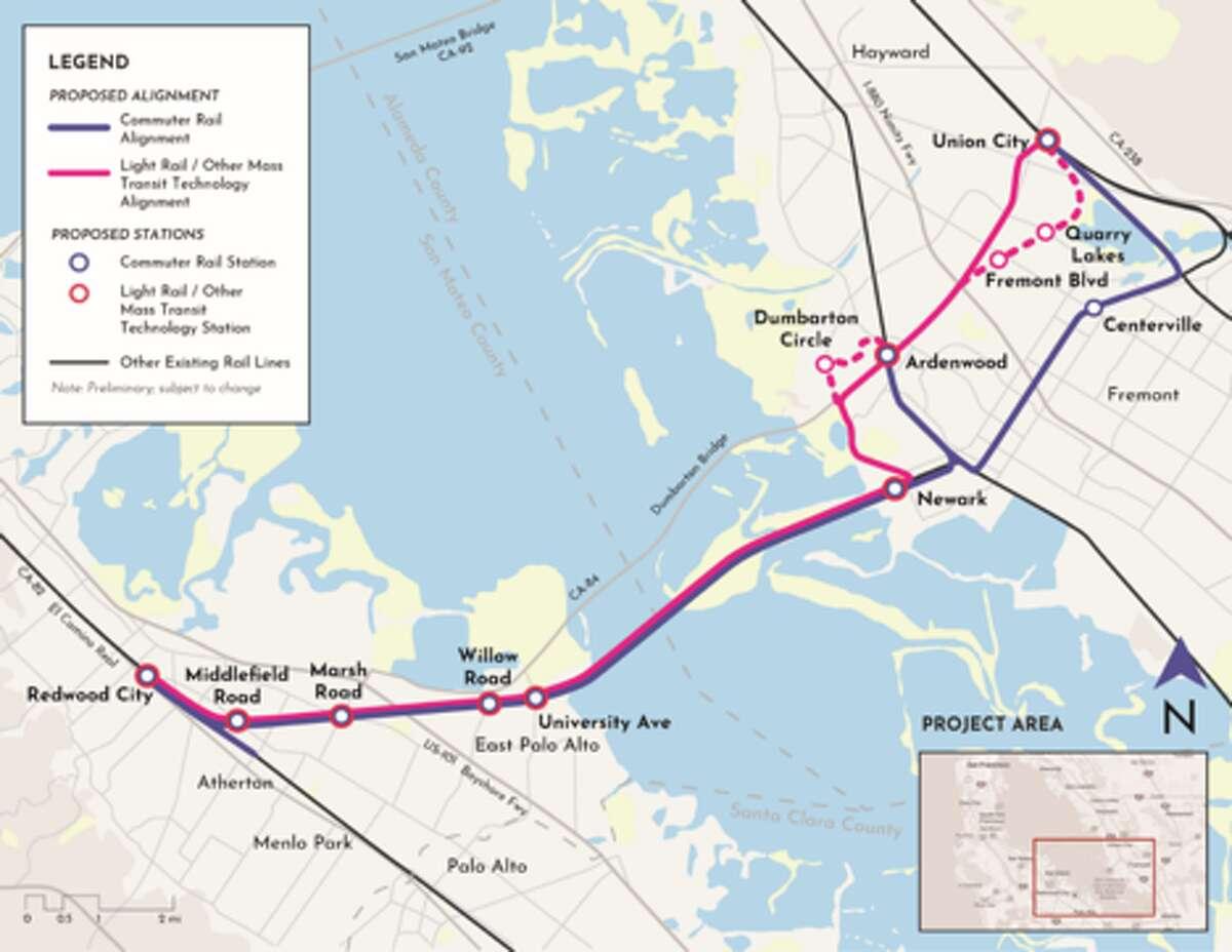 Samtrans map.