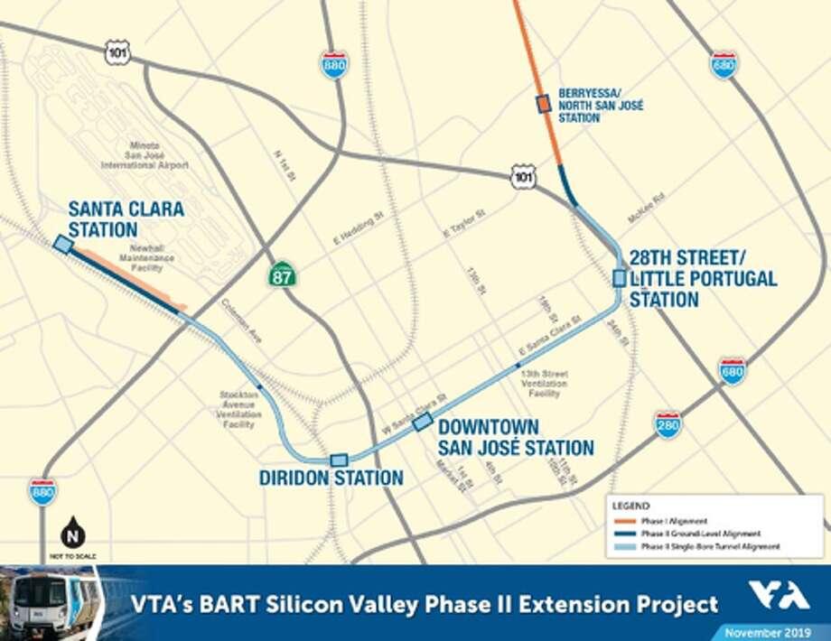 VTA map. Photo: VTA