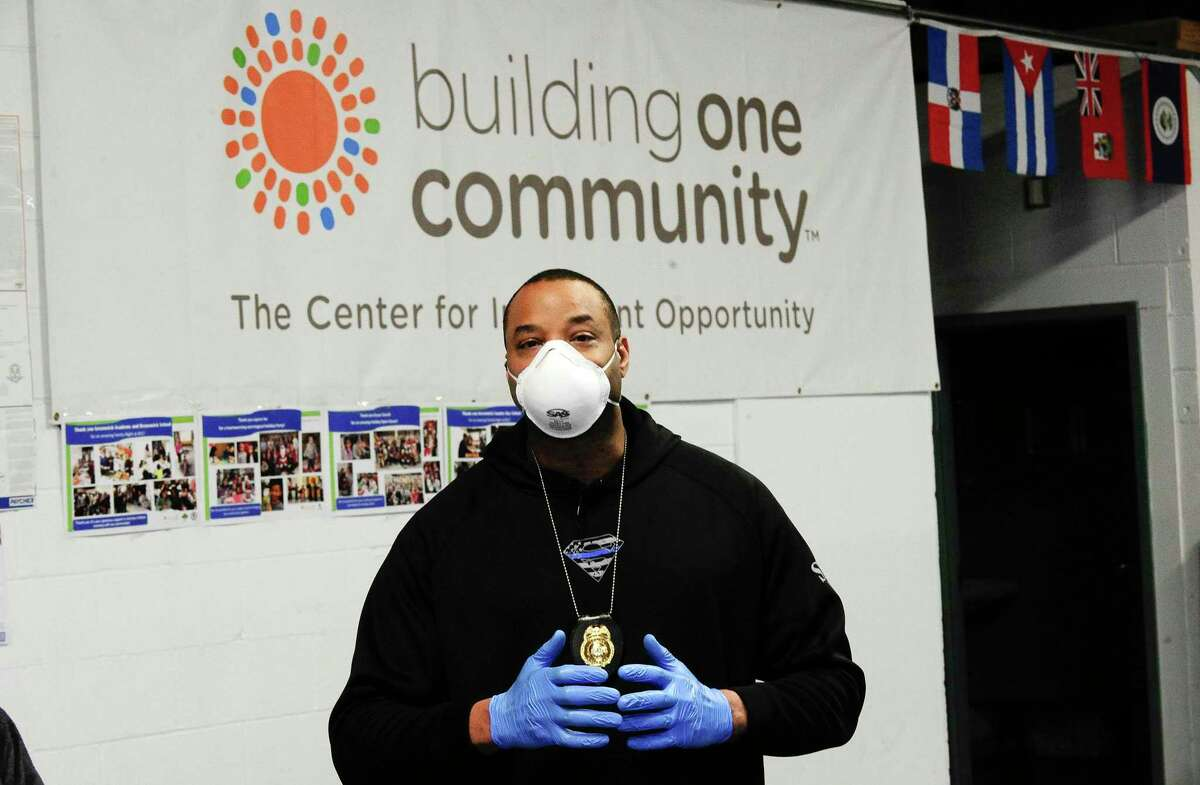 Sgt. William Brevard of the Stamford Police Department, talks about a community outreach effort, in which officers are reaching out to Stamford's immigrant community, providing information on resources available to them, as well as providing surgical masks.