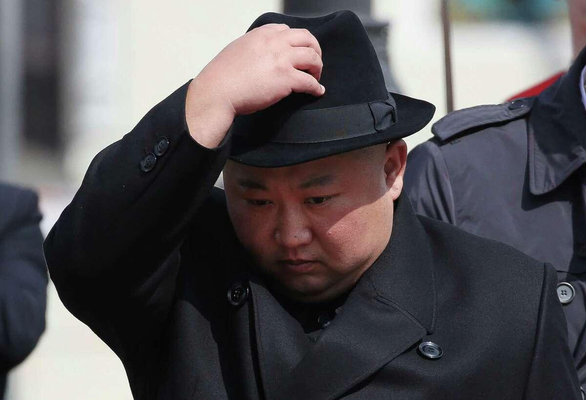 Kim Jong Un, North Korea's leader, is photographed in Vladivostok, Russia, in April 2019.