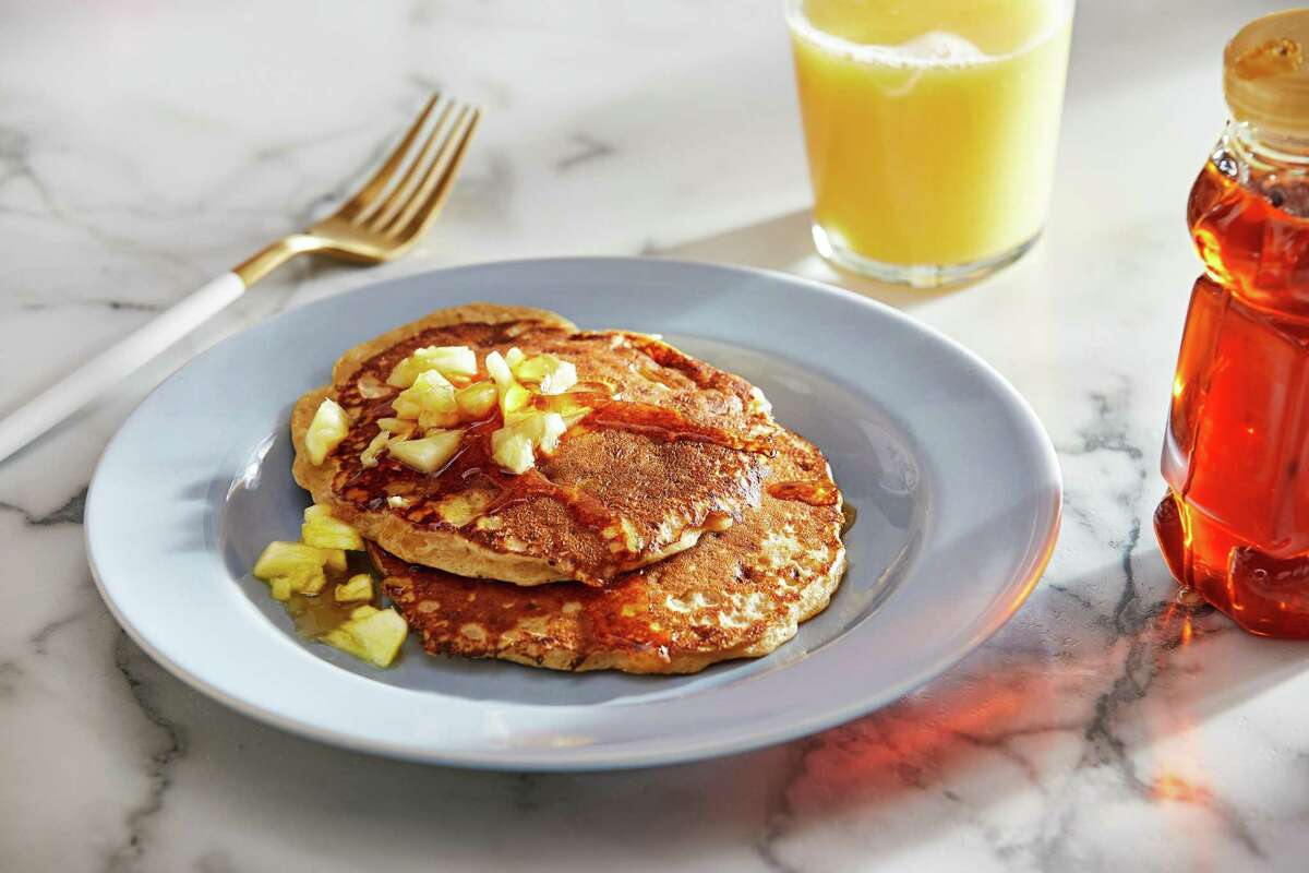 Pineapple Cottage Cheese Pancakes