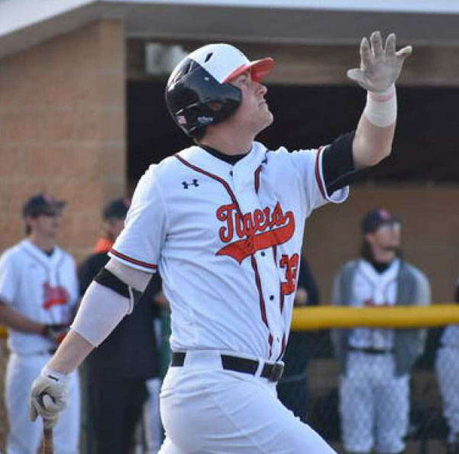 Edwardsville senior Drake Westcott watches one of his three home runs against Granite City last season. Photo: Matt Kamp|The Intelligencer