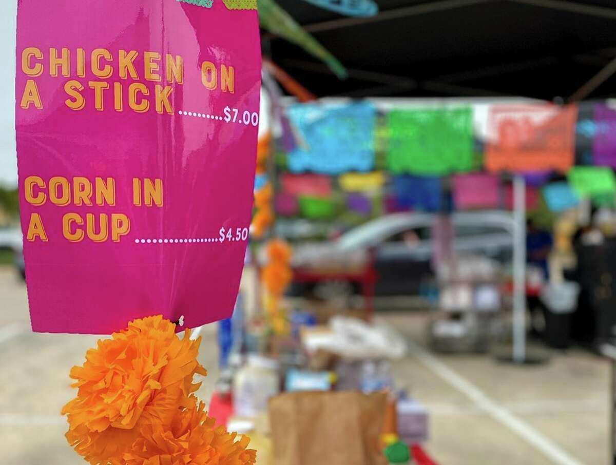 La Familia Cortez launched the event on Saturday in the parking lot of its Mi Familia location, featuring about six to eight booths filled with Fiesta favorites such as chicken-on-a-stick, sausage wraps, crispy tacos, Aguas Frescas and margaritas.