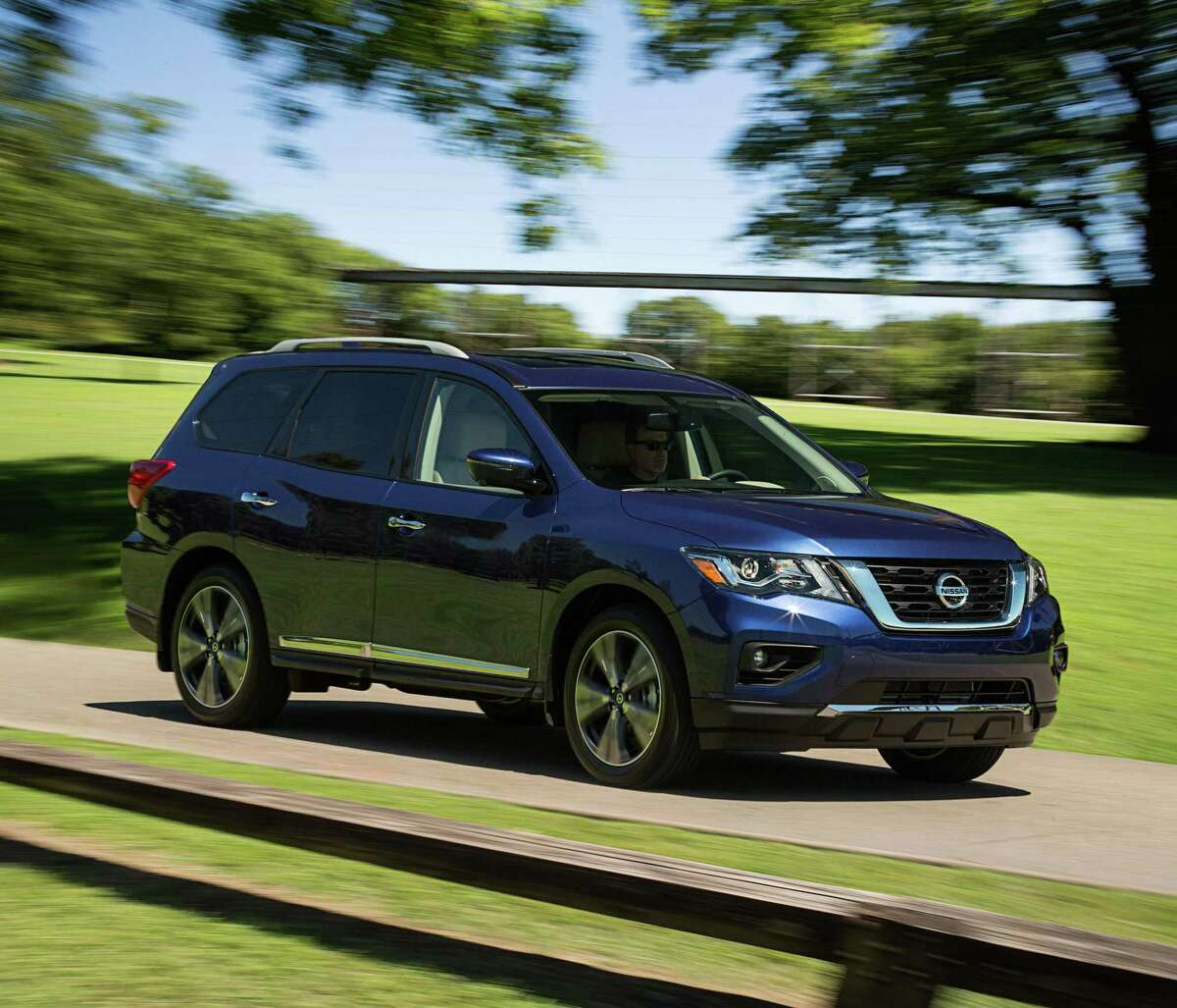 The 2020 Pathfinder Rock Creek Edition offers unique exterior and interior treatments that emphasize the rugged Pathfinder heritage.