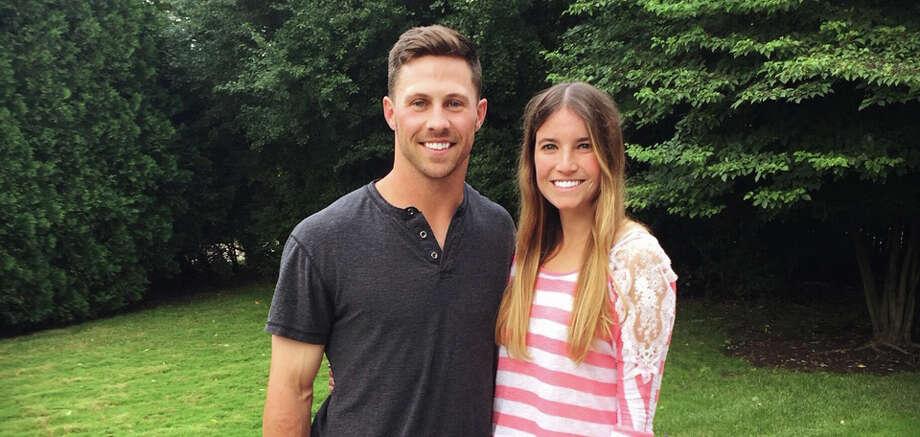 Jordan Dean poses with his fiancée Lauren. Photo: Photo Provided