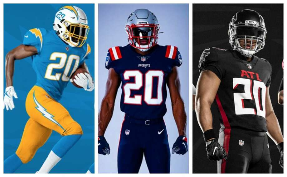 PHOTOS: Ranking the NFL's new uniforms for the 2020 season Seven NFL teams will wear new uniforms in the 2020 season, including the Chargers, Patriots and Falcons. Browse through the photos above to see how we ranked the new NFL uniforms coming in the 2020 season ... Photo: NFL